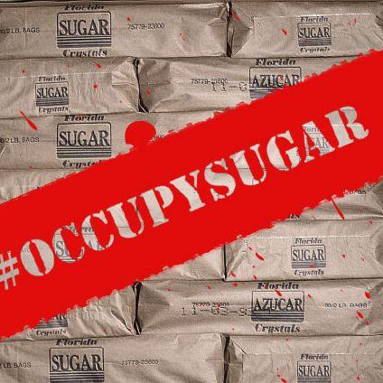 December 1991, Florida, USA --- Bags of packed sugar at a sugar mill owned by the Okeelanta Sugar corporation.   Location: Glades, Florida, USA. --- Image by ? Tony Arruza/CORBIS