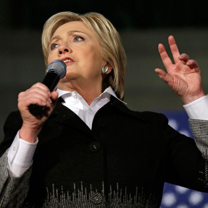 Hillary Clinton at Monday night's town hall.