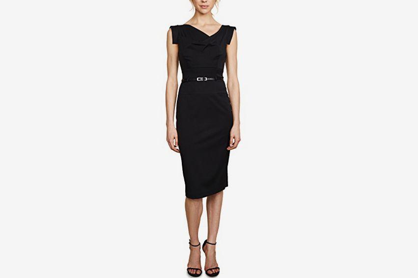 Black Halo Belted Dress