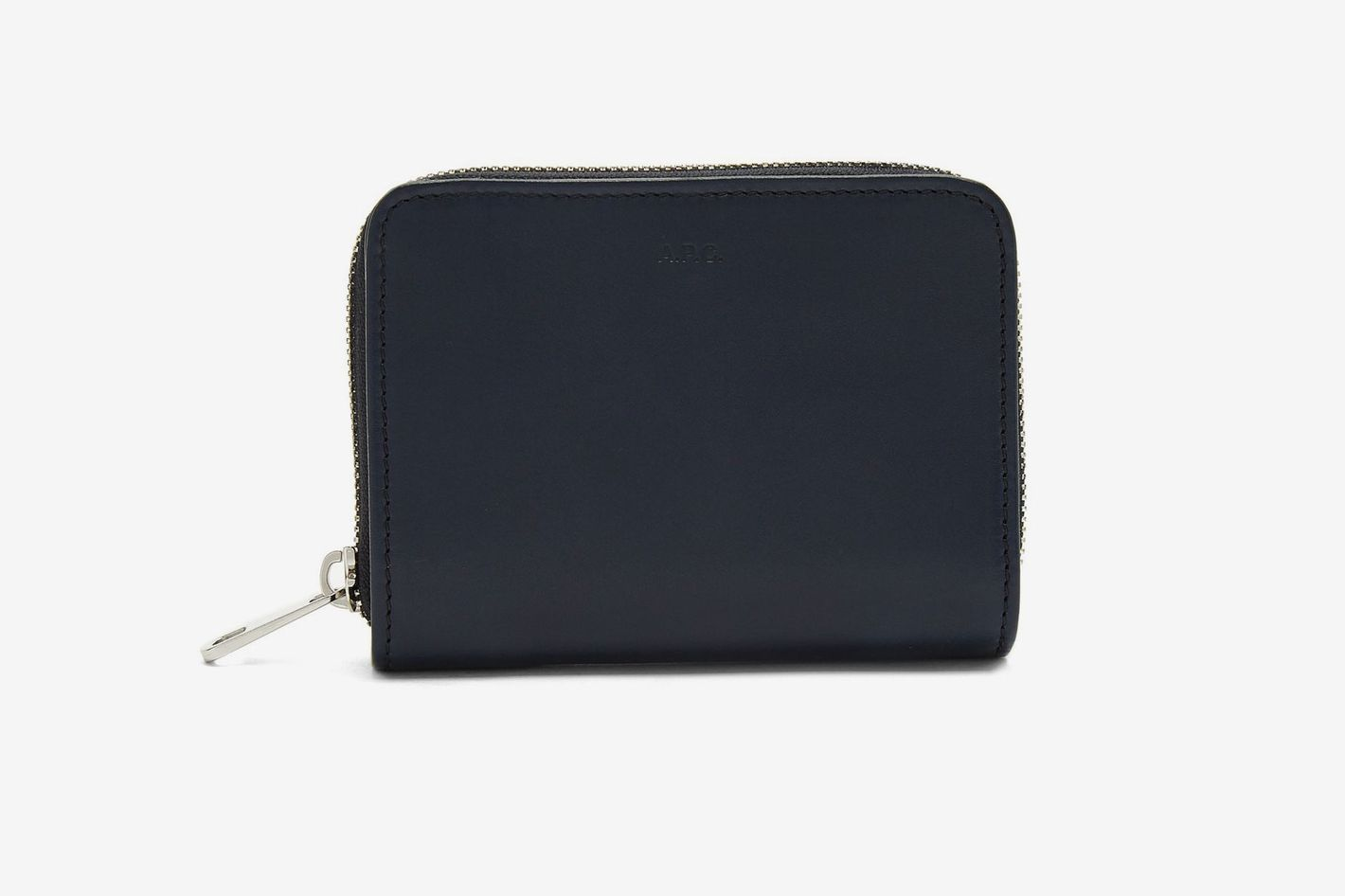 A.P.C. Compact Zip-Around Leather Wallet