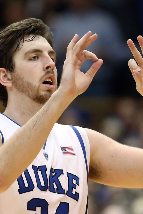 Ryan Kelly #34 of the Duke Blue Devils during their game at Cameron Indoor Stadium on March 2, 2013 in Durham, North Carolina.