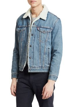 levis type three faux lined denim trucker jacket - strategist nordstrom half yearly sale best deals