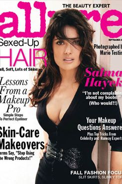 Salma Hayek, shot for <em>Allure</em> by Mario Testino.