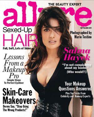 Salma Hayek, shot for <em>Allure</em> by Mario Testino.