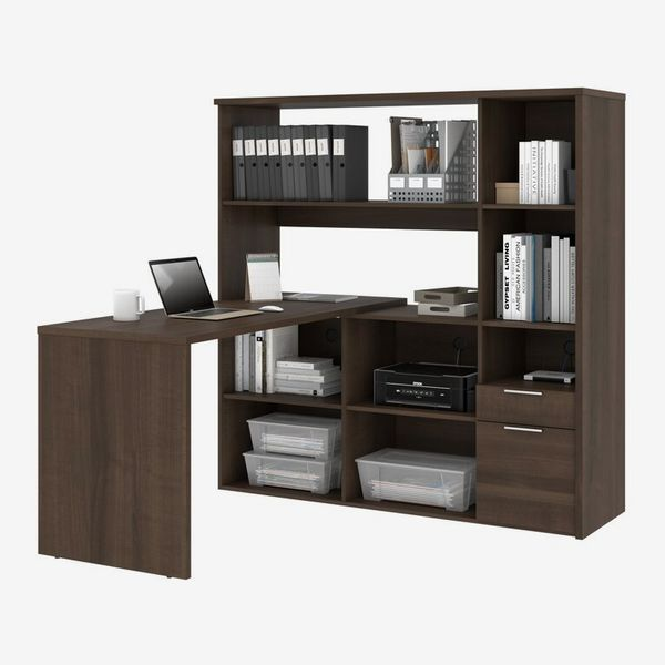 Kiawah Reversible L-Shape Desk with Hutch