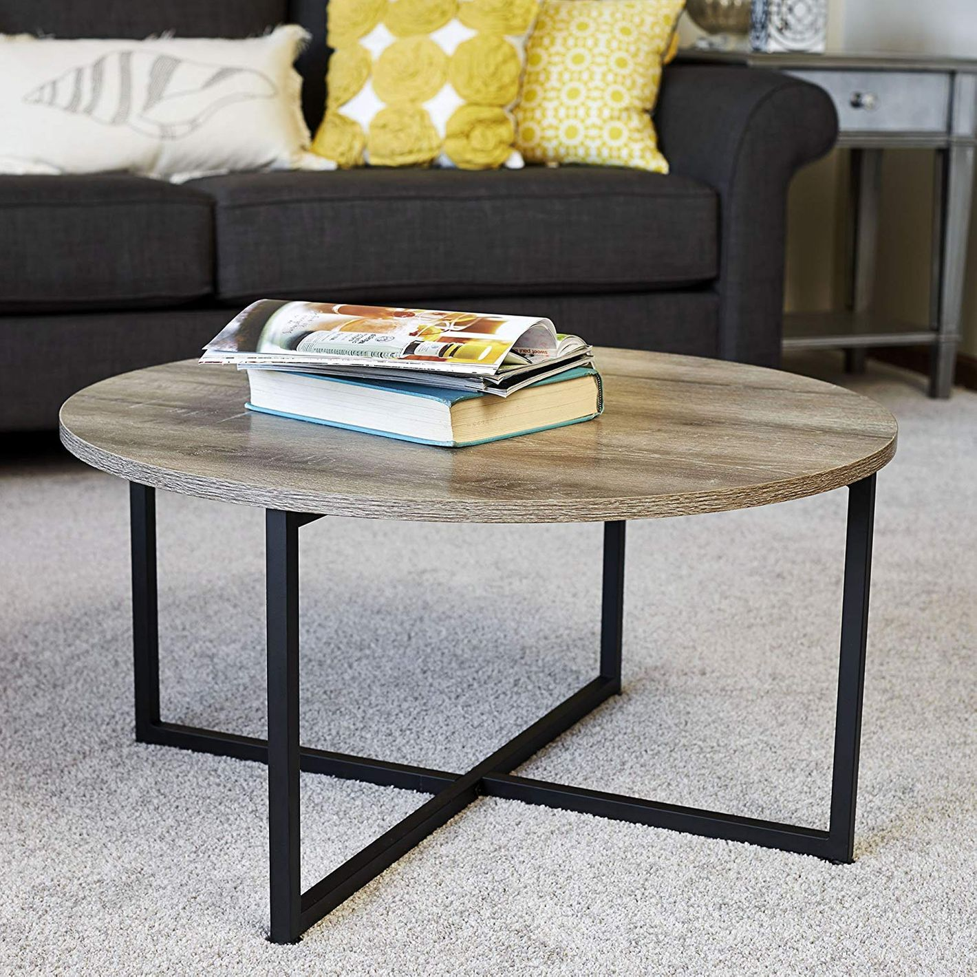 Household Essentials 8079 1 Ashwood Round Coffee Table
