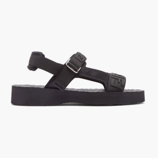 Fendi FF-Embossed Sandals