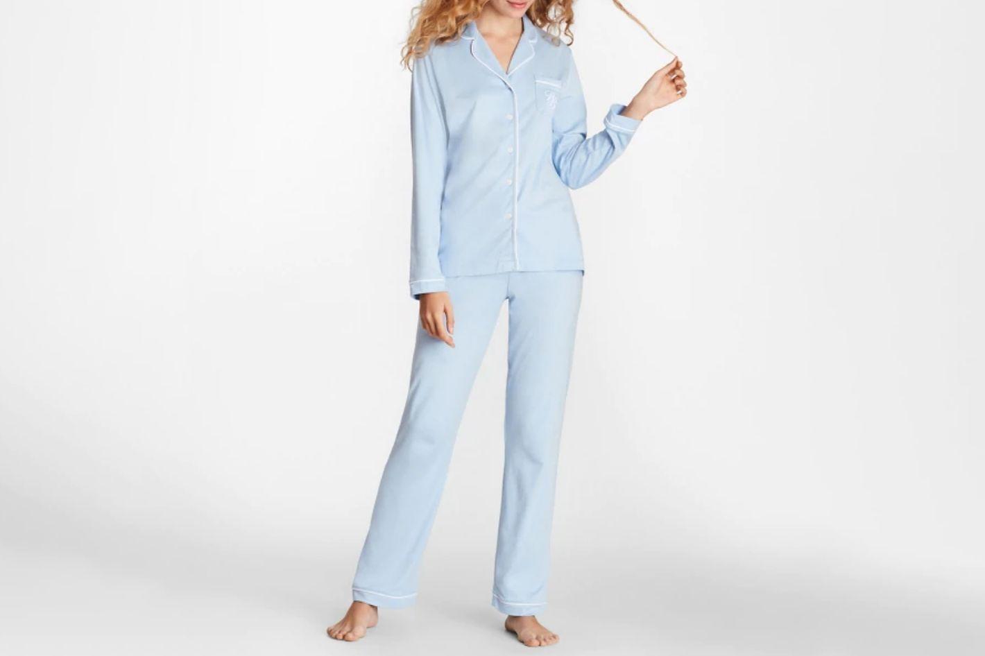 Brooks Brothers Logo-Embroidered Pima Cotton Pajama Set