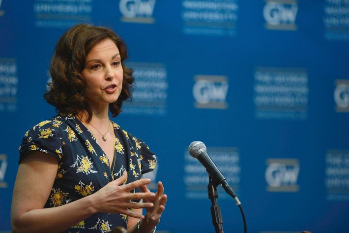 WASHINGTON, DC - MARCH 01: Ashley Judd speaks at the Progress And Perspectives: Women's Reproductive Health A Conversation With Ashley Judd at George Washington University on March 1, 2013 in Washington, DC. (Photo by Riccardo S. Savi/Getty Images)