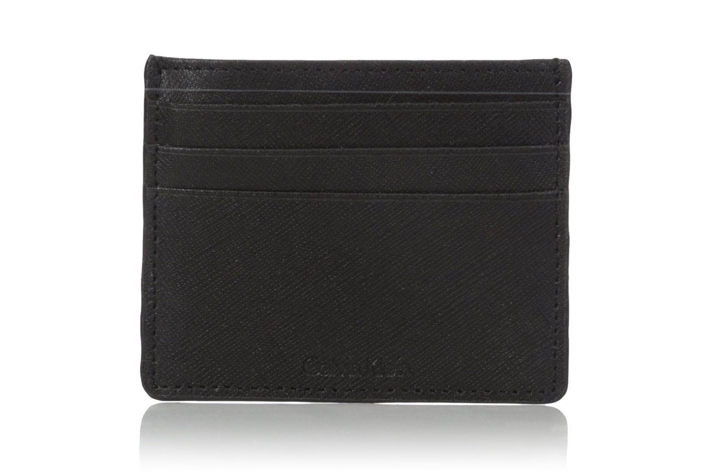 424c7f0f95ec Calvin Klein Leather Slim Credit Card Wallet at Amazon