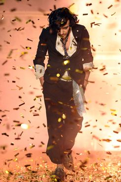 Designer John Galliano walks the runway during the John Galliano Ready to Wear Spring/Summer 2011 show during Paris Fashion Week at Opera Comique on October 3, 2010 in Paris, Paris, France.