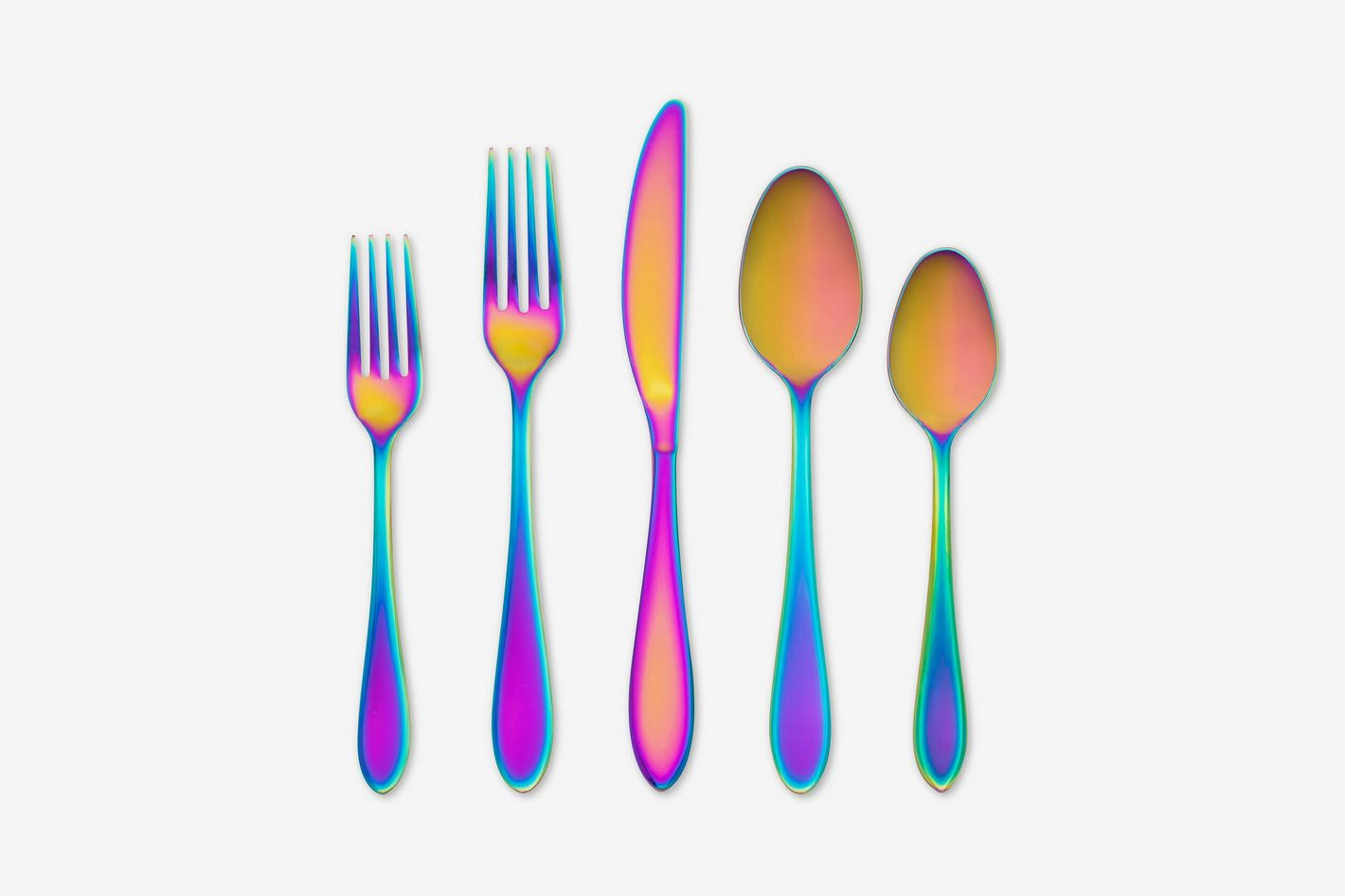 Cambridge Silversmiths Delia Rainbow Mirror 20-Piece Flatware Set