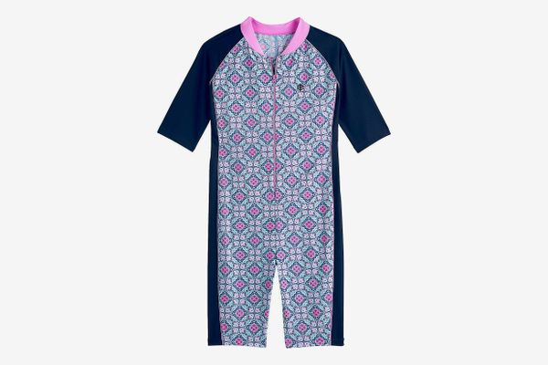 Coolibar UPF 50+ Kids' Neck-to-Knee Surf Suit