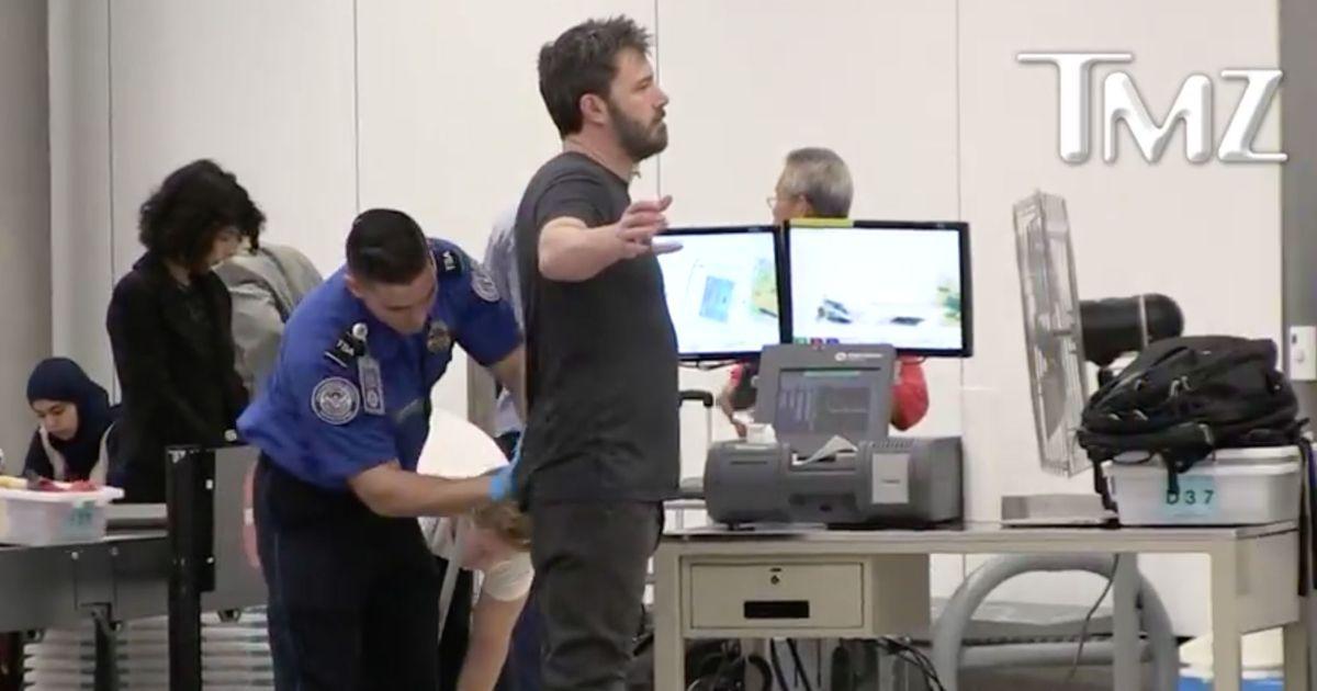 Ben Affleck Breathes Through Interminable TSA Pat Down