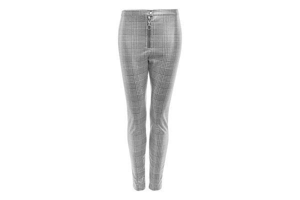 Prince of Wales Coated Treggings