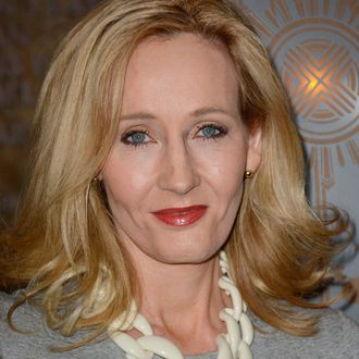 J.K. Rowling lights the Empire State Building, NYC for Lumos