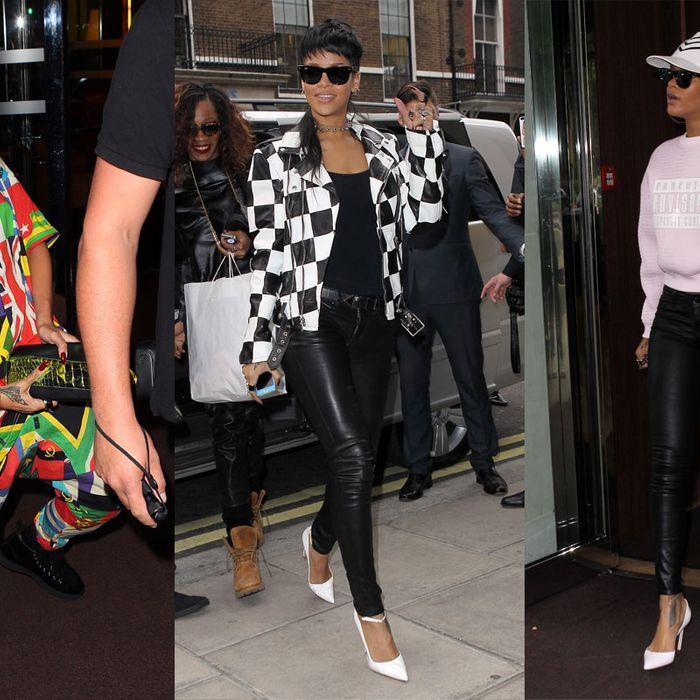 Rihanna's three looks.