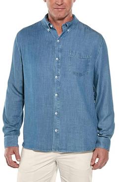 Coolibar Men's Spencer Chambray Shirt UPF 50+