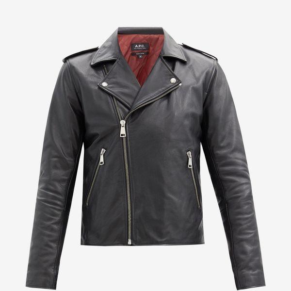 A.P.C. Leather Biker Jacket