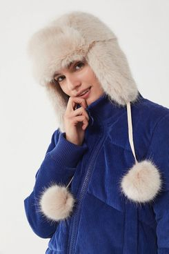 Snowball Faux Fur Trapper Hat