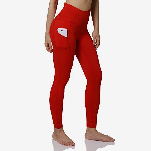 Goldweather Women High Waist Yoga Capris Pants with Pocket,Stretchy Skinny Seven-Lengths Running Leggings