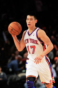 NEW YORK, NY - FEBRUARY 15:  Jeremy Lin #17 of the New York Knicks dribbles the ball against the Sacramento Kings at Madison Square Garden on February 15, 2012 in New York City. NOTE TO USER: User expressly acknowledges and agrees that, by downloading and/or using this Photograph, user is consenting to the terms and conditions of the Getty Images License Agreement.  (Photo by Chris Trotman/Getty Images)