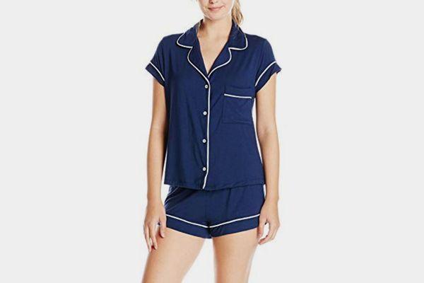 Eberjey Women's Gisele Two-Piece Short Sleeve & Short Pajama Sleepwear Set