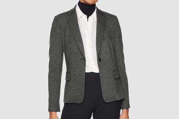 Lark & Ro Women's Long Sleeve Knit Jacquard Blazer