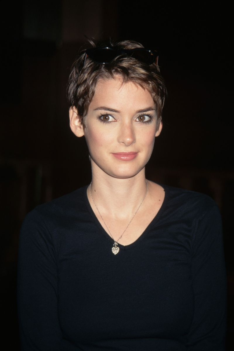 Winona Ryder 1997 Best Short Hair Cuts The Cut