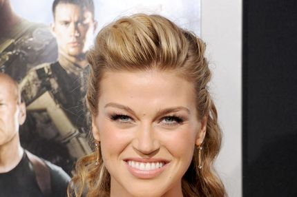 "HOLLYWOOD, CA - MARCH 28:  Actress Adrianne Palicki arrives at the ""G.I. Joe: Retaliation"" Los Angeles premiere at TCL Chinese Theatre on March 28, 2013 in Hollywood, California.  (Photo by Gregg DeGuire/WireImage)"