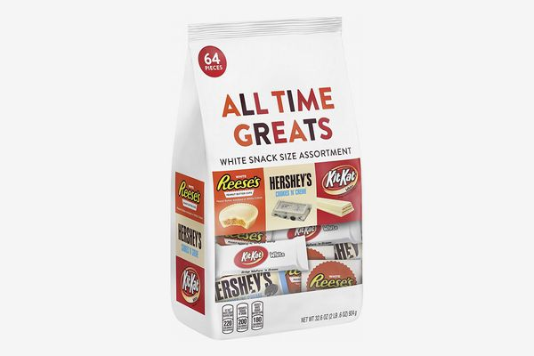 HERSHEY'S All Time Greats White Chocolate Candy, Snack Size Variety Mix