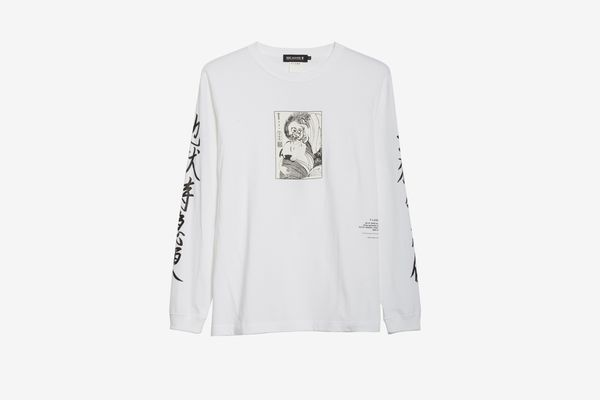 BEAMS T x Flagstuff Graphic Long Sleeve Cotton T-Shirt