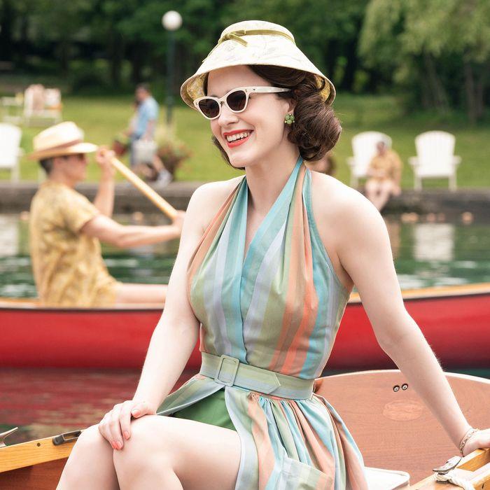Rachel Brosnahan in The Marvelous Mrs. Maisel.