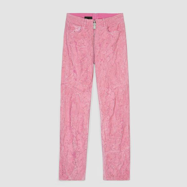 Givenchy Crackled Painted Jeans