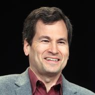"Host David Pogue speaks onstage during the NOVA ""Hunting the Elements"" panel during the PBS portion of the 2012 Winter TCA Tour at The Langham Huntington Hotel and Spa on January 5, 2012 in Pasadena, California."