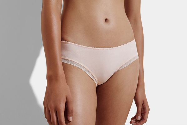 J.Crew Cotton Hipster With Geometric Lace Trim
