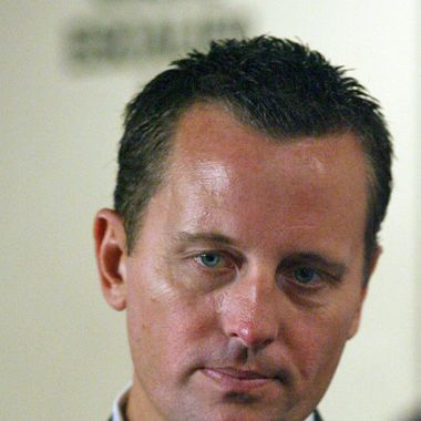 Richard Grenell, a spokesman for the U.S. Mission to the United Nations, briefs the media prior to a UN Security Council Consultation on the situation in Lebanon, Friday, August 4, 2006.