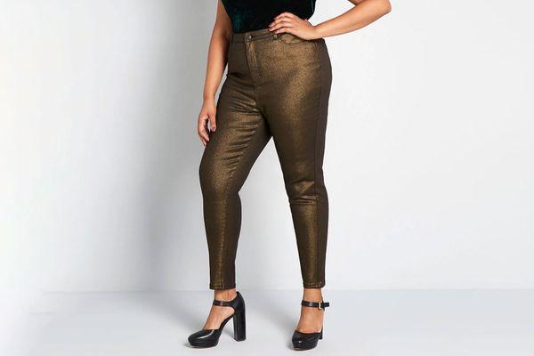The Hollywood Metallic Denim Pants