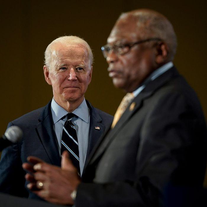 Joe Biden and James Clyburn.