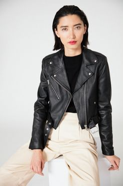 Veda Baby Jane Classic Leather Jacket