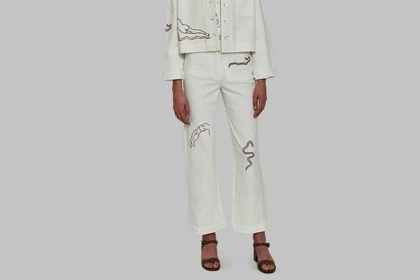 Paloma Wool Vera Pant in White