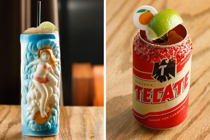 163 iced tea slushie, $10 and Ssäm sauce michelada, $6.