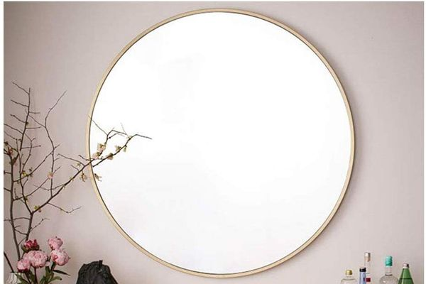 Beauty4U Gold Round Mirror