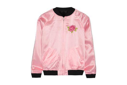 Treat Yourself A Bubblegum Pink Varsity Jacket The Cut