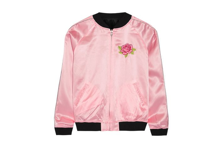 Treat Yourself: A Bubblegum-Pink Varsity Jacket