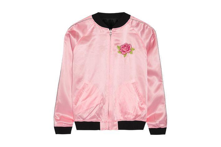 Treat Yourself: A Bubblegum-Pink Varsity Jacket