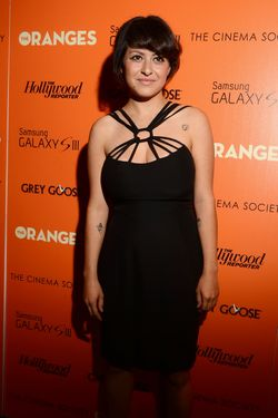 "NEW YORK, NY - SEPTEMBER 14:  Actress Alia Shawkat attends The Cinema Society with The Hollywood Reporter & Samsung Galaxy S III host a screening of ""The Oranges"" at Tribeca Screening Room on September 14, 2012 in New York City.  (Photo by Andrew H. Walker/Getty Images)"