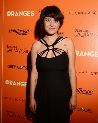 Actress Alia Shawkat attends The Cinema Society with The Hollywood Reporter & Samsung Galaxy S III host a screening of