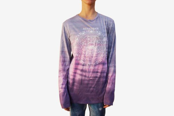 Lama Foundation Purple Horizon Wash 'Be Here Now' T-Shirt