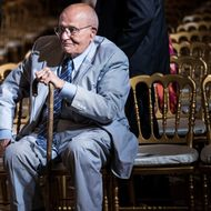 Representative John Dingell (D-MI) sits after listening to US President Barack Obama make a statement in the East Room of the White House July 18, 2013 in Washington, DC.